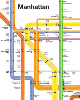 New York Subway Map Vignelli.Nyc Subway