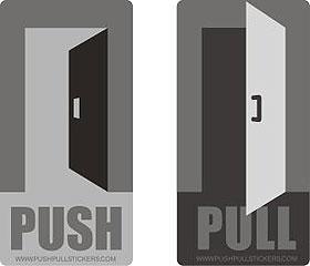 & Symbols for Push Pull stickers