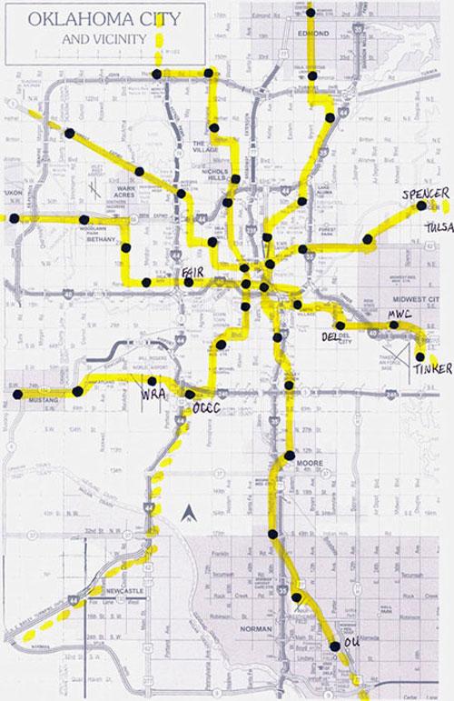 OKC light rail map